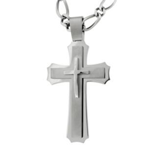 LYNX Stainless Steel Cross Pendant - Men