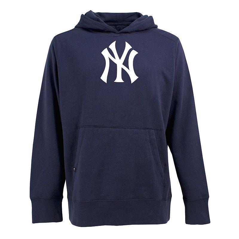 New York Yankees Fleece Hoodie, Size: M (Blue)