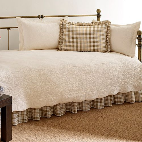 Trellis 5-pc. Floral and Plaid Daybed Set