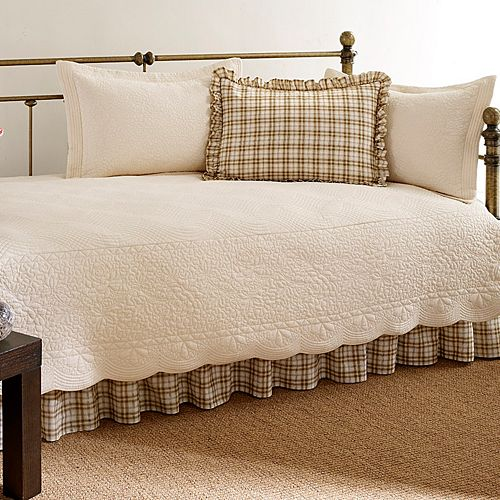 Trellis 5-pc. Floral& Plaid Daybed Set