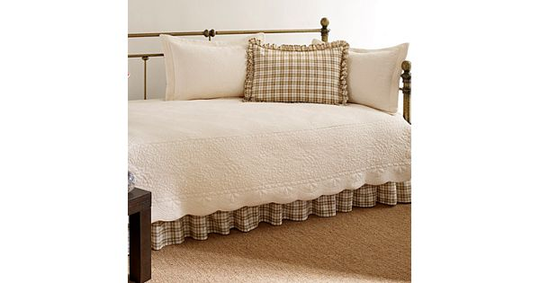 Trellis 5 Pc Floral And Plaid Daybed Set