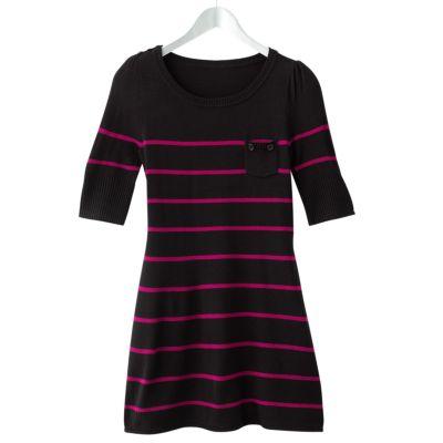 Takeout Striped Tunic Sweater