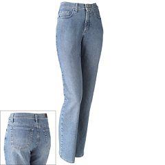Petite Lee Classic Fit Straight-Leg Jeans