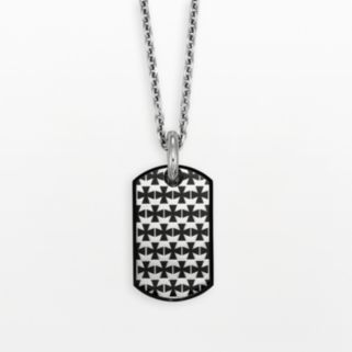 AXL by Triton Stainless Steel Cross Dog Tag - Men