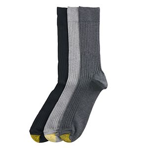 Men's GOLDTOE® 3-pack Canterbury Crew Fashion Dress Socks