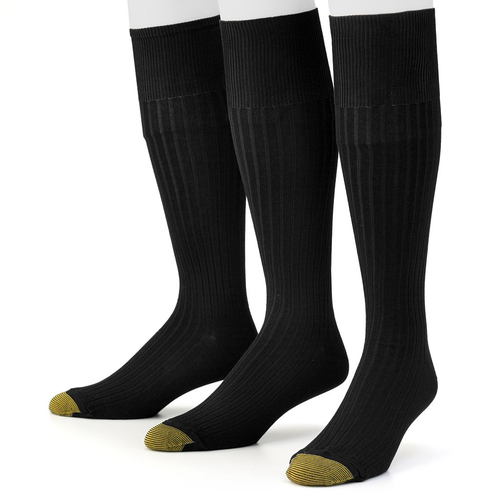 Men's GOLDTOE 3-pk. Canterbury Over-the-Calf Dress Socks