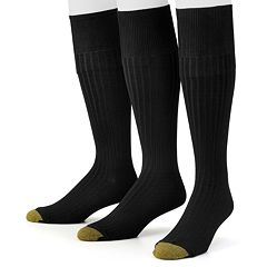 Men's GOLDTOE 3 pkCanterbury Over-the-Calf Dress Socks