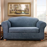 Sure Fit™ Striped Loveseat Slipcover