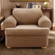 Sure Fit™ Striped T-Cushion Chair Slipcover