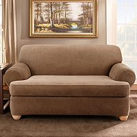 Sure Fit™ Striped T-Cushion Sofa Slipcover