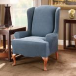 Sure Fit™ Striped Wingback Chair Slipcover