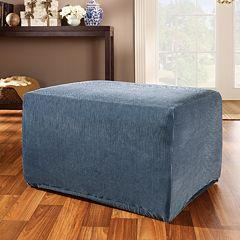 Sure Fit™ Striped Ottoman Slipcover