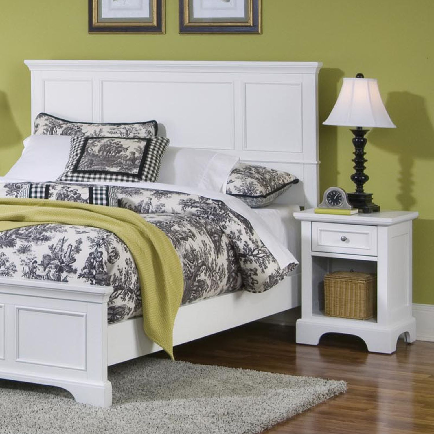 Fancy Naples Queen Headboard u Nightstand