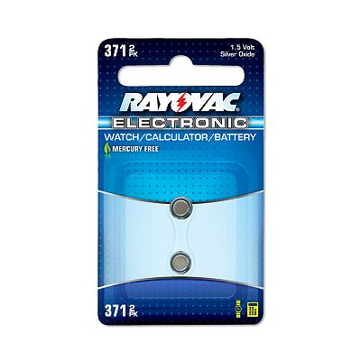 Rayovac 2-pk. 371 Button-Cell Silver Oxide Batteries
