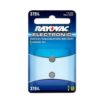 Rayovac 2-pk. 379 Button-Cell Silver Oxide Batteries