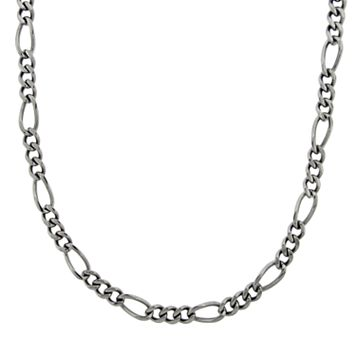 LYNX Stainless Steel Figaro Necklace - Men