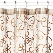 Beatrice Home Fashions Arabella Fabric Shower Curtain