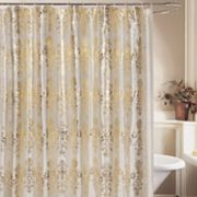 Beatrice Home Fashions Medallion Fabric Shower Curtain