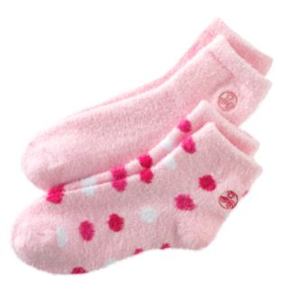 Earth Therapeutics 2-pk. Dotted and Solid Aloe Socks