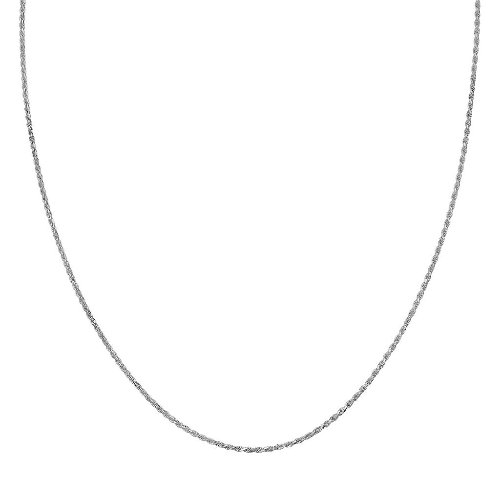 Sterling Silver Rope Chain Necklace - 18 in.