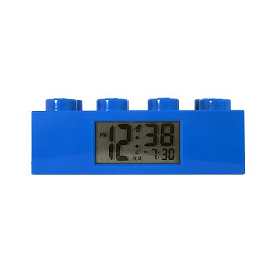 LEGO Blue Brick Alarm Clock