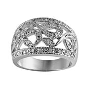 Sterling Silver 1/4-ct. T.W. Diamond Filigree Ring