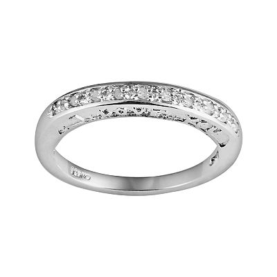 Sterling Silver 1/10-ct. T.W. Diamond I Love You Promise Ring