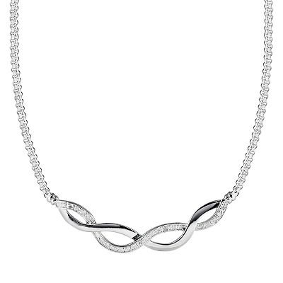 Sterling Silver 1/4-ct. T.W. Diamond Infinity Necklace