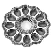 Wilton Armetale Flutes and Pearls Egg Tray