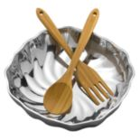 Wilton Armetale Eddy 3-pc. Salad Bowl Set