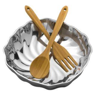 Wilton Armetale Eddy 3-pc. Salad Bowl Set