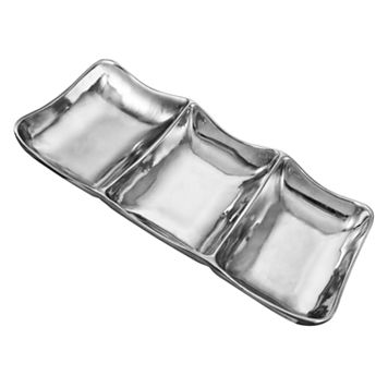 Wilton Armetale Boston 3-Section Serving Tray