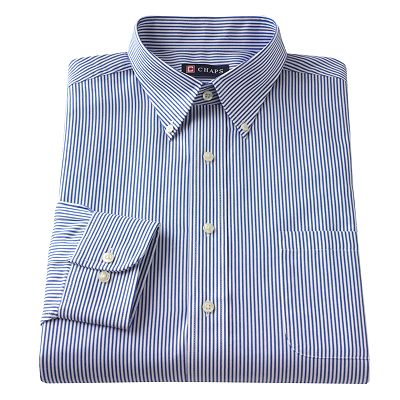 Chaps Classic-Fit Patterned Broadcloth Button-Down Collar Dress Shirt