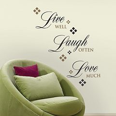 'Live, Laugh, Love' Wall Stickers