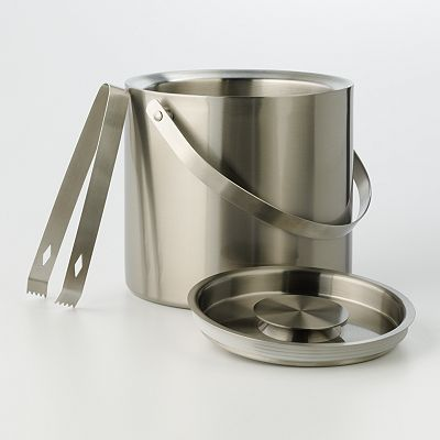 Food Network Double Wall Ice Bucket with Tongs