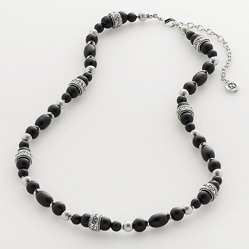 Napier® Silver-Tone Beaded Necklace