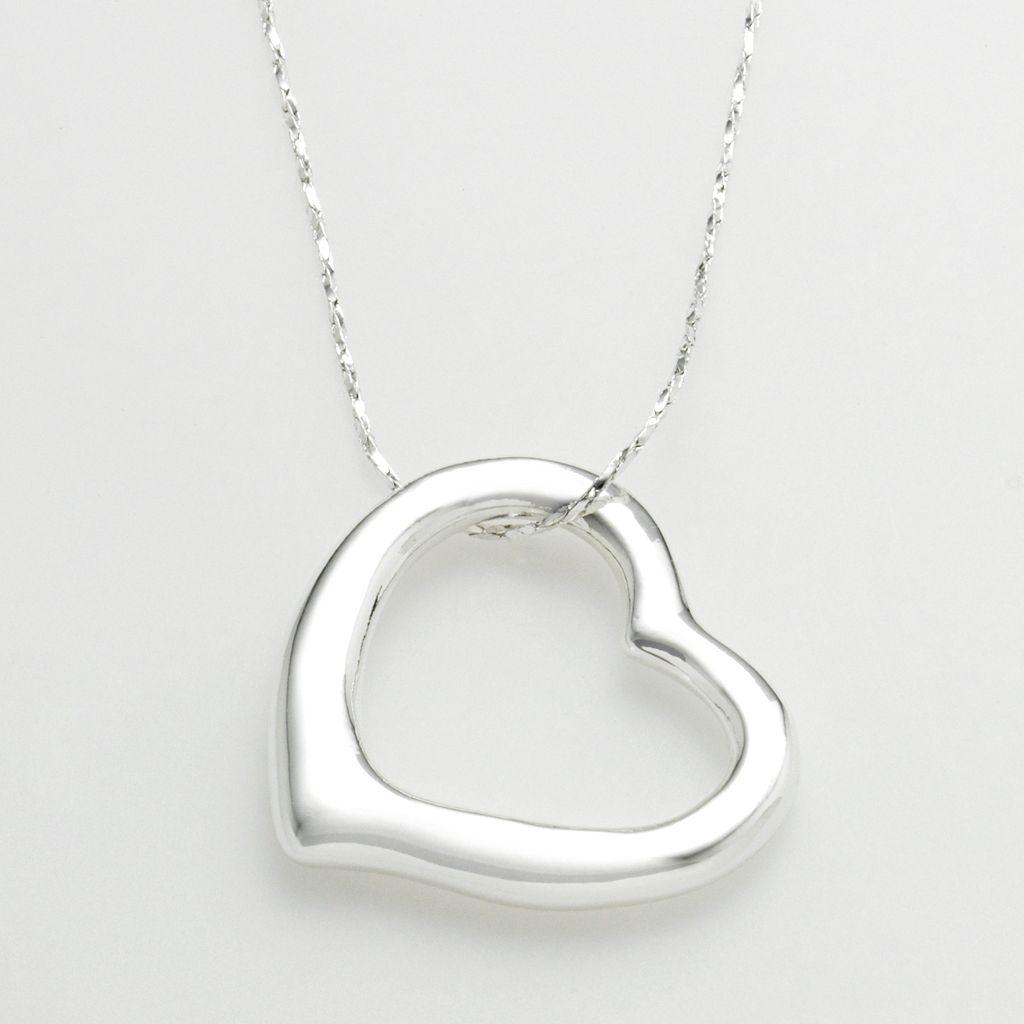SO® Silver-Tone Heart Pendant