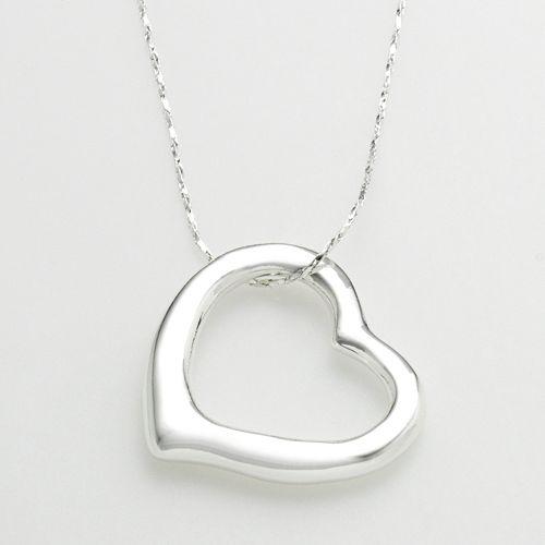 Mudd® Silver-Tone Heart Pendant