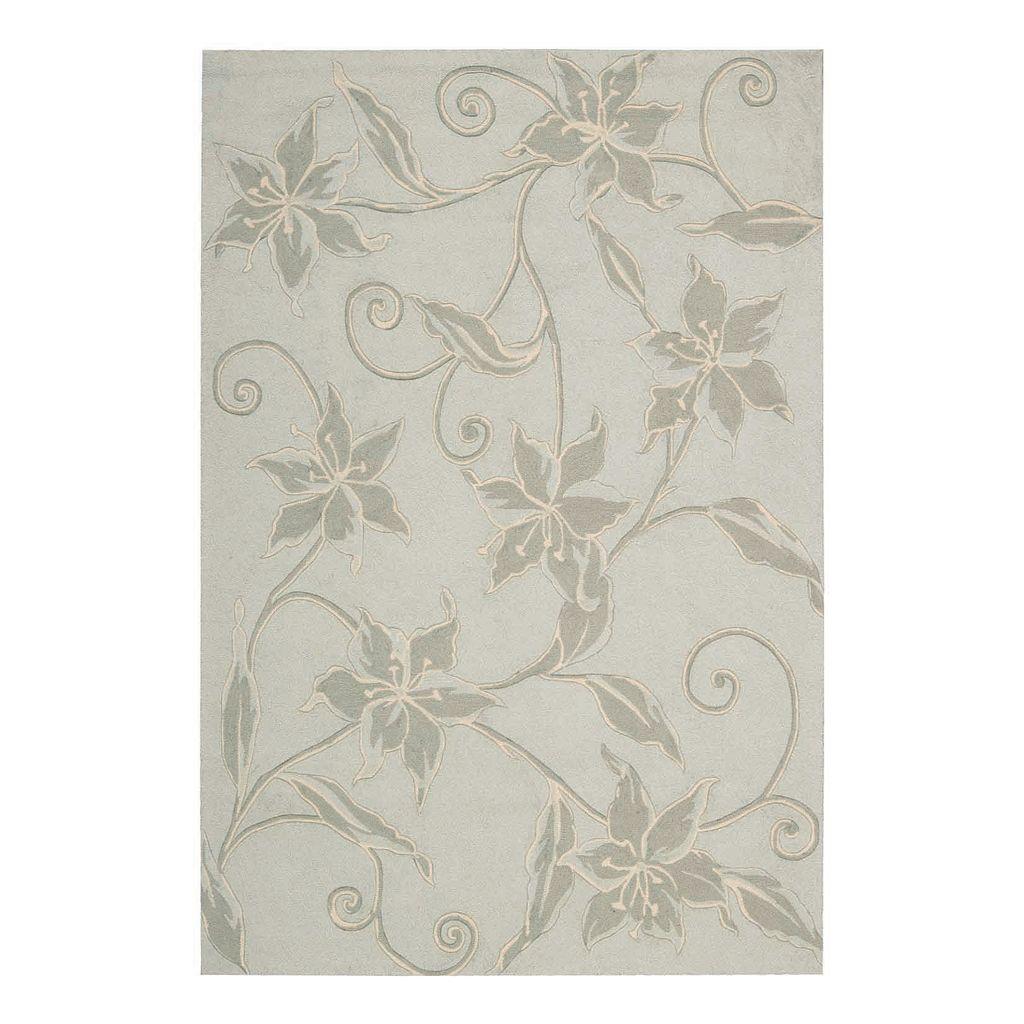 Fantasy Floral Aqua Rug - 3'6'' x 5'6''