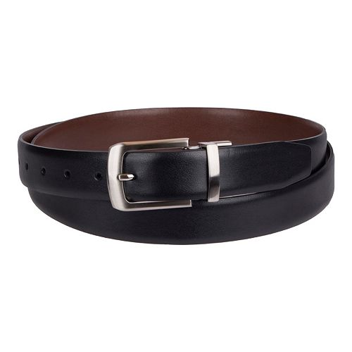 Croft & Barrow® Reversible Soft-Touch Faux-Leather Belt