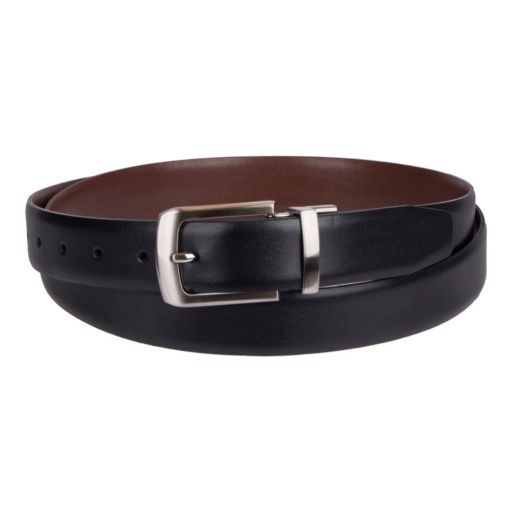 Croft & Barrow® Reversible Soft-Touch Faux-Leather Belt