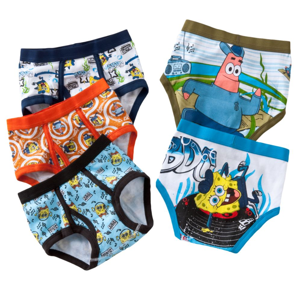 4 8 spongebob squarepants 5 pk briefs
