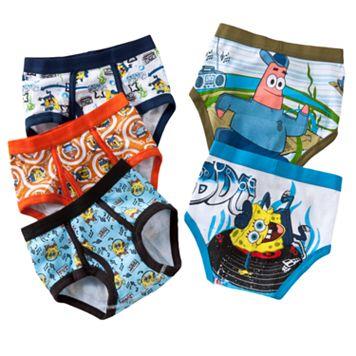 Boys 4-8 SpongeBob SquarePants 5-pk. Briefs