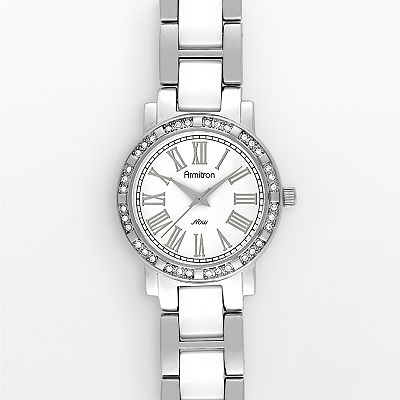 Armitron NOW Silver-Tone and Ceramic Crystal Watch - Women
