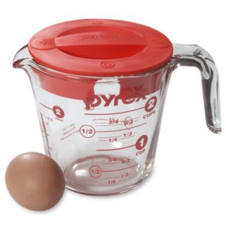 Pyrex 2-cup Covered Glass Measuring Cup