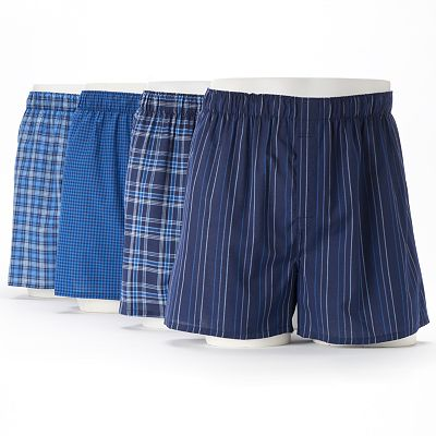 Croft and Barrow 4-pk. Patterned Boxers