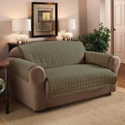 Quilted Faux-Suede Loveseat Furniture Saver
