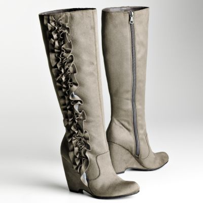 ELLE Riva Wedge Knee-High Boots