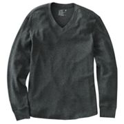 Hanes V-Neck Solid Thermal Tee
