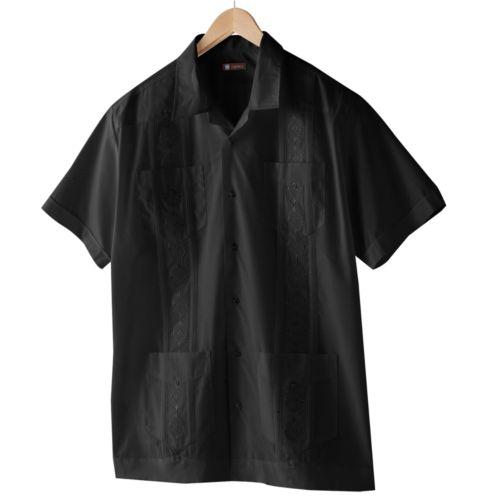 Centro Cuffed Guayabera Casual Button-Down Shirt